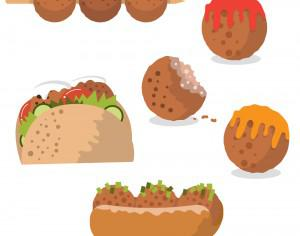Tasty meatball vectors Photoshop brush