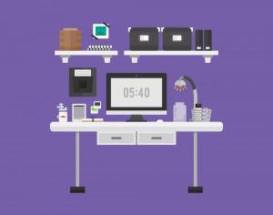 Modern Workspace Photoshop brush