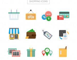 Shopping Icons Photoshop brush