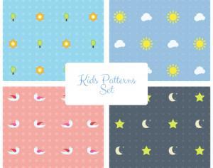 Kids Vector Patterns Set Photoshop brush
