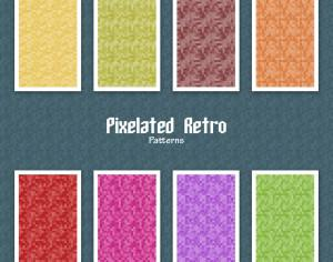 Pixelated Retro Patterns Photoshop brush