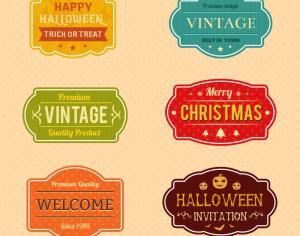 Holiday Vector Badges Photoshop brush