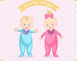 Baby boy and girl Photoshop brush