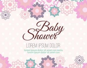 Baby shower with floral background Photoshop brush