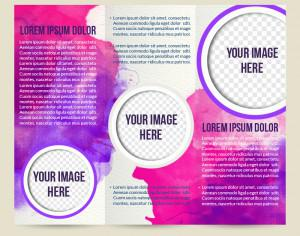 Watercolor brochure Photoshop brush