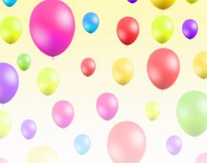 Abstract illustration  with balloons Photoshop brush