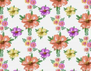 Flower illustration Photoshop brush