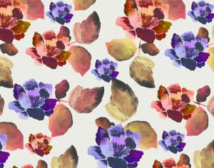 Watercolor background with vintage flowers Photoshop brush