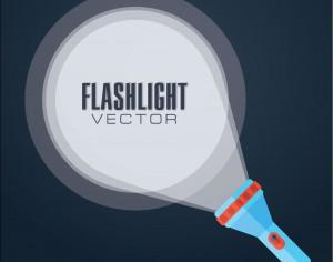 Flat vector illustration flashlight. Photoshop brush