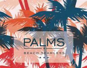 Vector seamless pattern with palm trees Photoshop brush