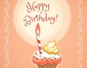 Happy Birthday illustration with cakes Photoshop brush