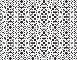 Black and White Rounded Dot Pattern Photoshop brush