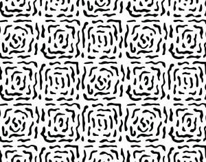 Modern Hand Drawn Square Black and White Pattern Photoshop brush