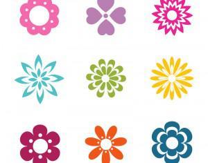 Vector Flowers Icons Photoshop brush