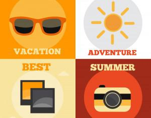 Summer Vacation Icons Photoshop brush