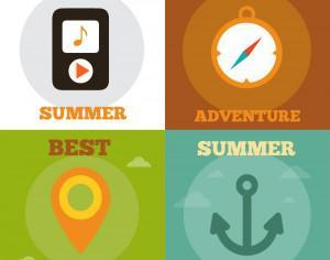 Summer Activity Icons Photoshop brush