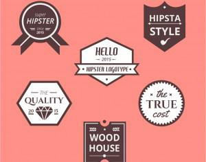 Retro Vintage Icons or Logotypes set. Vector design elements, business signs, logos, identity, labels, badges and objects Photoshop brush