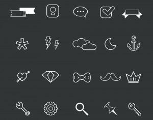 Set of hight quality vector icons.  Free Vector Illustration Design. Photoshop brush