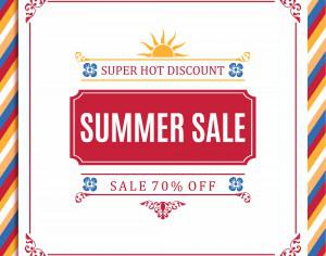 Summer sale abstract blur background. Photoshop brush