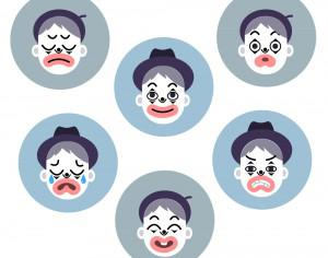 Mime emotion faces Photoshop brush