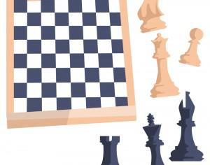Chess board with figures Photoshop brush