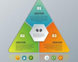 Pyramid infographic on the grey background Photoshop brush