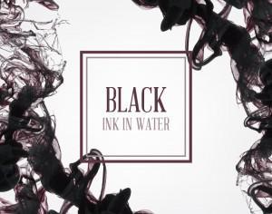Black ink in water illustration Photoshop brush
