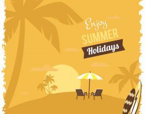 Summer beach illustration Photoshop brush