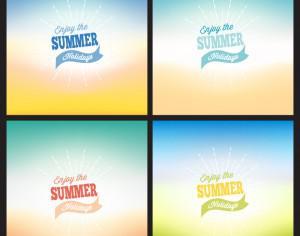 Summer blurred backgrounds set Photoshop brush