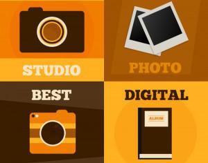 Photography vector posters Photoshop brush