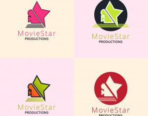 Movie production logo design Photoshop brush