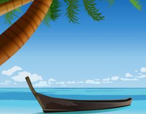 tropical beach Photoshop brush