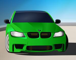 green sports car Photoshop brush