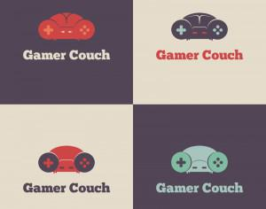 Gamer Couch Vector Logo Photoshop brush