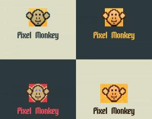 Pixel Monkey Vector Logo Photoshop brush