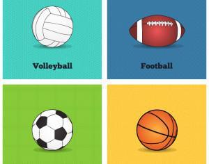 Vector Sports Balls Photoshop brush