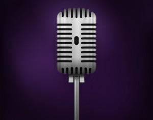Retro Vector Microphone Photoshop brush
