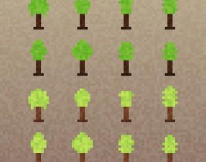 Pixel Trees Set Photoshop brush