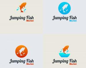 Jumping Fish Vector Logo Photoshop brush