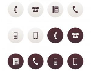 Vector Phone Icons Photoshop brush