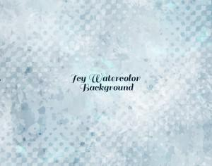 Icy Watercolor Vector Background Photoshop brush