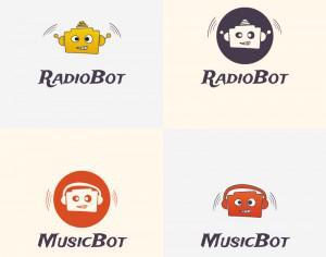 Radio Robot Vector Logo Photoshop brush