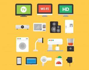 Electronic Appliance Icons Photoshop brush