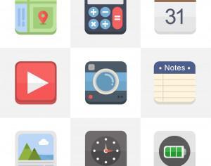 Flat Icons for UI Design Photoshop brush