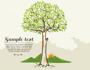 Tree vector illustration Photoshop brush