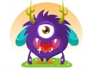 Cute monster Photoshop brush