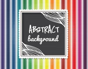 Abstract background with  cute frame Photoshop brush