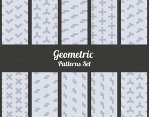 Geometric patterns set Photoshop brush