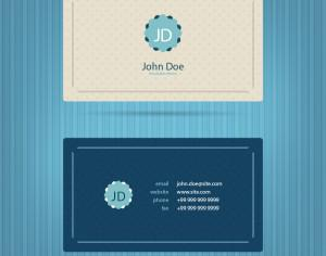 Modern blue business card template Photoshop brush