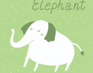 Vector illustration of an elephant Photoshop brush